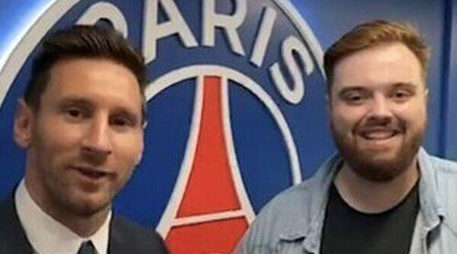 Ibai Llanos, criticado por conseguir la 'primera entrevista' de Leo Messi tras fichar por el PSG