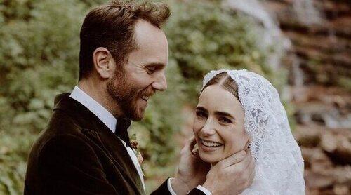 La romántica boda de cuento de Lily Collins con Charlie McDowell