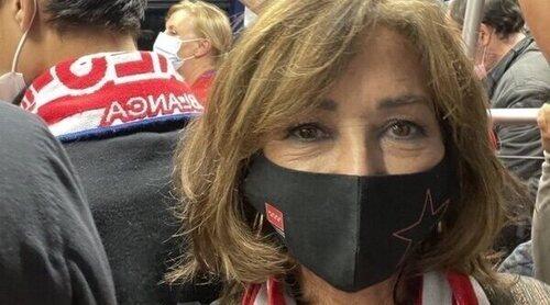 Ana Rosa Quintana va en metro al Wanda Metropolitano para ver al Atlético de Madrid