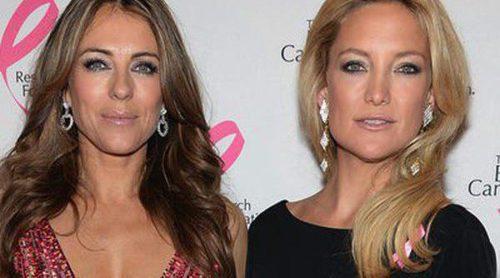 Liz Hurley, Kate Hudson, Alyssa Miller y Elton John, noche solidaria para luchar contra el cáncer de mama