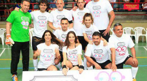 Jesús Olmedo, Gonzalo Miró y Norma Ruiz, protagonistas de un partido de fútbol solidario