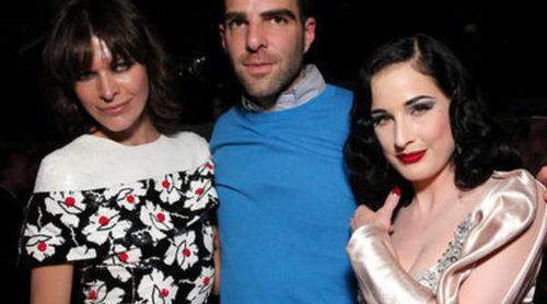 Zachary Quinto y Milla Jovovich, testigos del sensual baile de Dita Von Teese para promocionar un licor