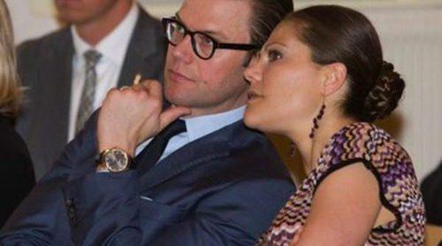 Victoria y Daniel de Suecia, inseparables en la reunión del Instituto Italiano de Cultura de Estocolmo