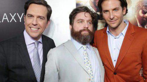 Bradley Cooper, Ed Helms, Zach Galifianakis y Justin Bartha vuelven con 'R3sacón' a los cines españoles