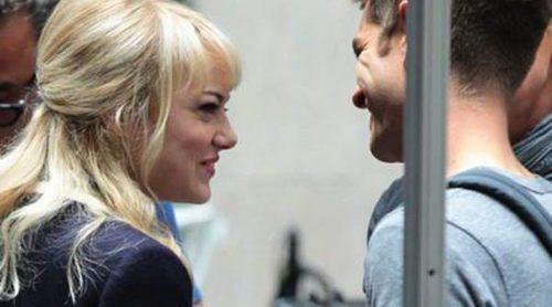 Andrew Garfield y Emma Stone, muy cómplices en el rodaje de 'The Amazing Spider-Man 2'