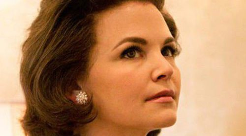 Ginnifer Goodwin, caracterizada como Jackie Kennedy para la tv movie 'Killing Kennedy'