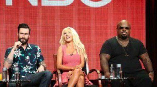 Christina Aguilera, Cee Lo Green y Adam Levine presentan la quinta temporada de 'The Voice'
