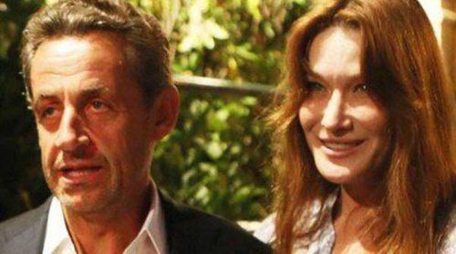 Carla Bruni y Nicolas Sarkozy asisten al concierto de Julien Clerc cerca de Saint Tropez