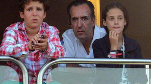Jaime de Marichalar disfruta del Torneo de Polo de Sotogrande con sus hijos Victoria y Froilán