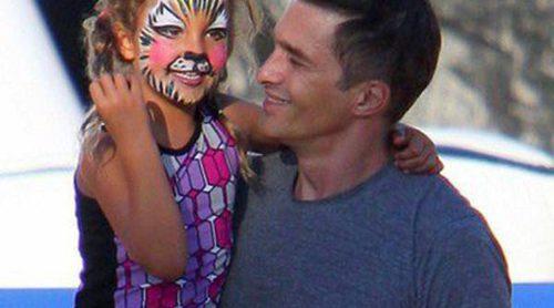 Olivier Martínez reaparece tras ser padre acompañando a Nahla Aubry a comprar calabazas
