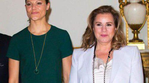 Victoria de Suecia y la Gran Duquesa de Luxemburgo, de reunión con el Comité Paralímpico Internacional