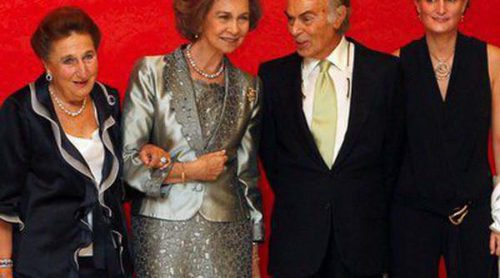 Carlos Zurita recibe un homenaje acompañado de la Reina Sofía, la Infanta Margarita y sus hijos