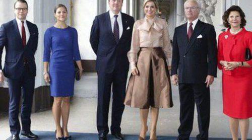Guillermo Alejandro y Máxima de Holanda visitan Suecia por primera vez como Reyes