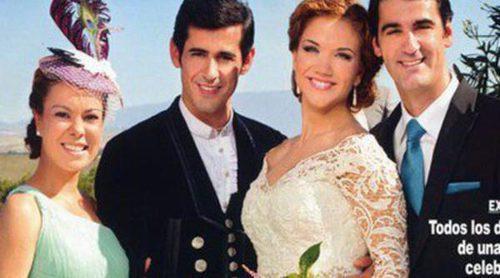 Víctor Janeiro y Beatriz Trapote comparten protagonismo con Jesulín y María José Campanario en la foto de su boda