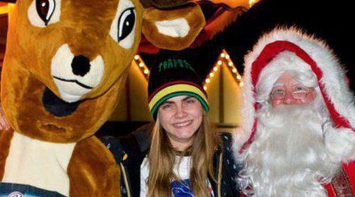 Cara Delevingne, Tim Burton y las hermanas Ecclestone se divierten en Winter Wonderland