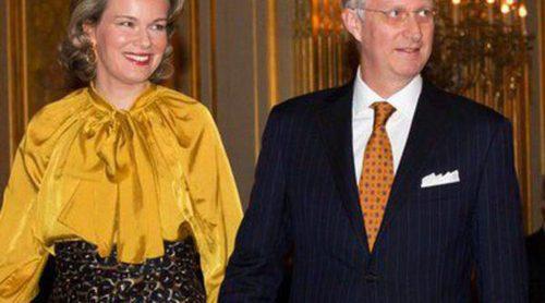 Felipe y Matilde de Bélgica ofrecen su primera recepción del año como Reyes
