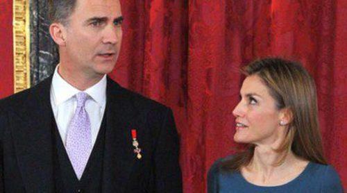 Los Reyes y los Príncipes Felipe y Letizia reciben al Cuerpo Diplomático en el Palacio Real