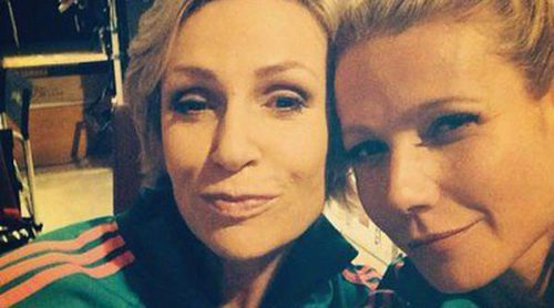 Gwyneth Paltrow disfruta del rodaje del capítulo 100 de 'Glee' junto a Jane Lynch