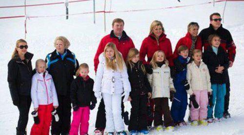 La Familia Real de Holanda se reúne al completo para posar con motivo de sus vacaciones de invierno en Austria