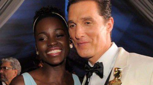 Lupita Nyong'o, Matthew McConaughey y Jared Leto celebran su victoria en los Oscar 2014 en la Governors Ball