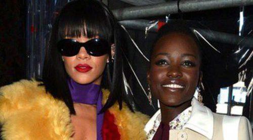Jared Leto y Lupita Nyong'o celebran su Oscar 2014 en la Paris Fashion Week con Rihanna