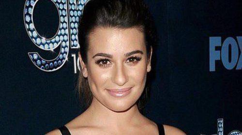 Lea Michele, Chris Colfer, Naya Rivera y Dianna Agron celebran el episodio 100 de 'Glee'