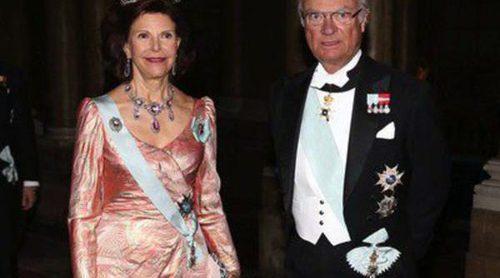Los Reyes de Suecia y los Príncipes Daniel y Carlos Felipe ofrecen una cena de gala en ausencia de Victoria de Suecia