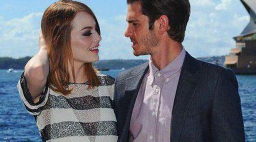 Emma Stone y Andrew Garfield, muy cómplices en la promoción de 'The Amazing Spider-Man 2: El poder de Electro'
