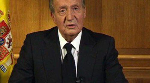 El Rey Don Juan Carlos se despide de Adolfo Suárez en un mensaje a la nación: 'Mi dolor es grande'