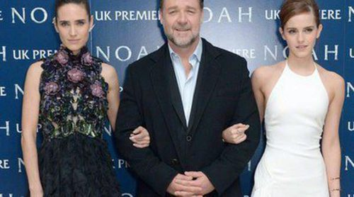 Jennifer Connelly y Russel Crowe presentan con Darren Aronofsky 'Noé' en Londres