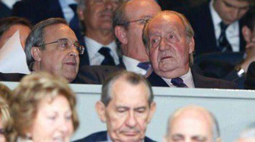 El Rey Juan Carlos y Vicente del Bosque animaron al Real Madrid en el partido de Champions contra el Bayern de Munich