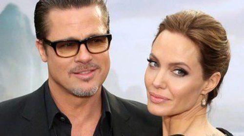 Brad Pitt arropa a Angelina Jolie en el estreno de 'Maléfica' en Londres