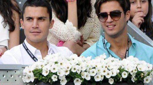 Rubén Cortada, Hiba Abouk, Álex González, Mario Casas y Maxi Iglesias vieron ganar a Nadal en el Madrid Open 2014