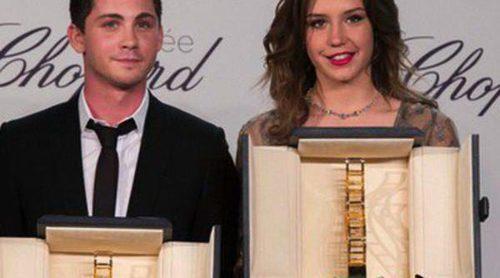 Pedro Almodóvar y Paz Vega acuden a la entrega de los Premios Chopard 2014 a Adèle Exarchopoulos y Logan Lerman