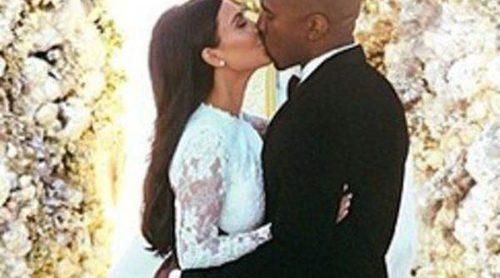 Kim Kardashian publica las fotografías de su boda con Kanye West
