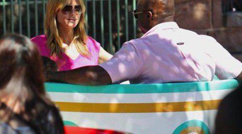 Heidi Klum y Seal, una expareja bien avenida en Disneyland con su hija Lou