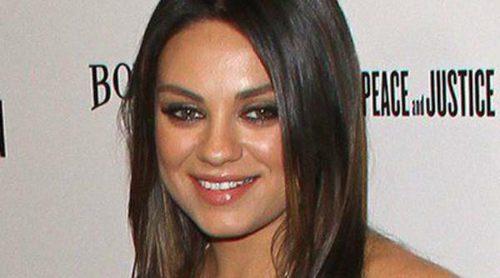 Mila Kunis presume de embarazo en el estreno de 'Third Person' sin su prometido Ashton Kutcher