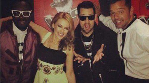 Ricky Martin, Kylie Minogue, Will.i.am y Joel Madden se divierten grabando 'La Voz Australia'
