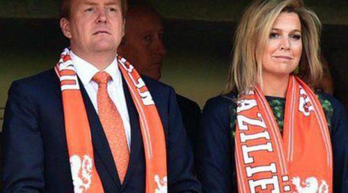 Guillermo y Máxima de Holanda, testigos de la victoria de Holanda ante Australia en el Mundial 2014