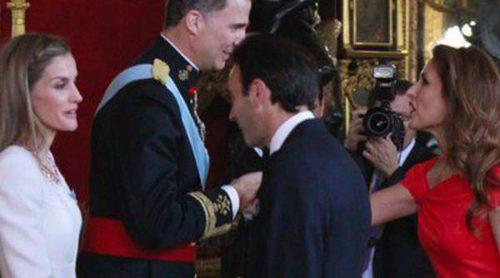 Los Reyes Felipe y Letizia reciben a Alejandro Sanz, Mariló Montero, Enrique Ponce, Ana Duato y David Bisbal en su primera recepción