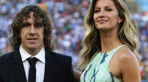 Vanesa Lorenzo y Tom Brady acompañan a Carles Puyol y Gisele Bündchen a entregar la Copa del Mundo 2014