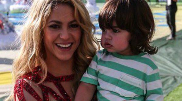 Gerard Piqué y Milan bailaron a ritmo de Shakira en la clausura del Mundial 2014