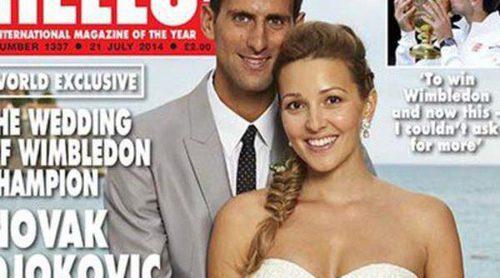 Novak Djokovic y Jelena Ristic muestran las imágenes de su boda a golpe de talonario