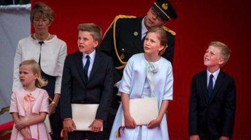 Los hijos de los Reyes Felipe y Matilde arrebatan el protagonismo a sus padres en el Día Nacional de Bélgica 2014