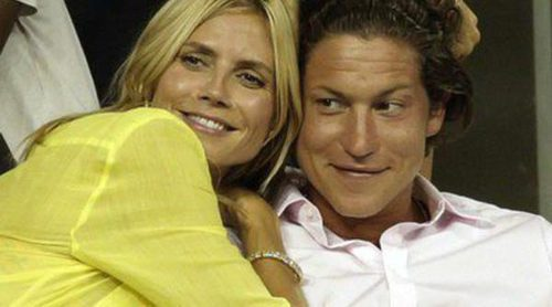 Heidi Klum, muy apasionada con su novio Vito Schnabel durante un partido de tenis