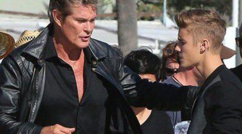 Justin Bieber se monta en el Coche Fantástico de David Hasselhoff