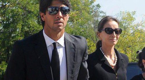 Fernando Verdasco apoya a Isabel Preysler y a Ana Boyer en el funeral de Miguel Boyer