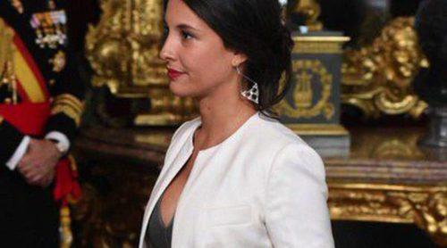 Xenia Tostado luce embarazo junto a Rodolfo Sancho en la recepción del Día de la Hispanidad 2014