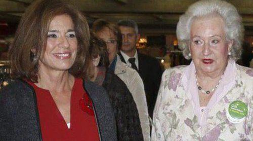 Ana Botella y la Infanta Pilar de Borbón inauguran el Rastrillo Nuevo Futuro en Madrid