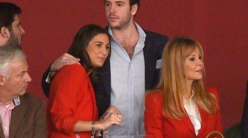 Álex Lequio presume de novia y de su madre Ana Obregón en la Madrid Horse Week 2014